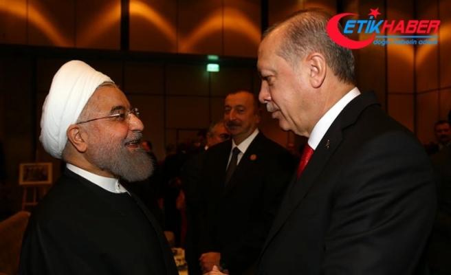 Erdoğan, İran Cumhurbaşkanı Hasan Ruhani ile telefonda görüştü