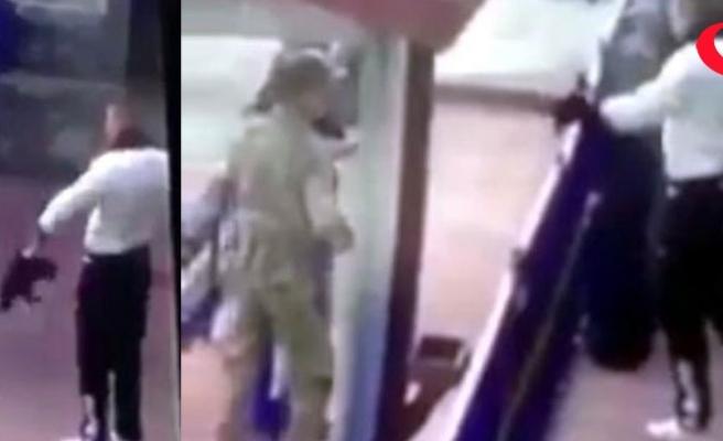 Erzincan'da askerden kediye işkenceye büyük tepki