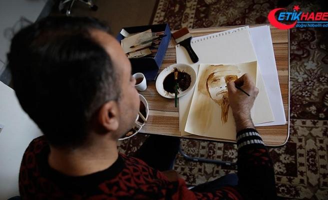 Iraklı ressam kahveyi resimle buluşturuyor