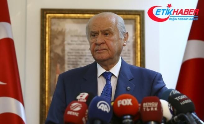 MHP Lideri Bahçeli: Türkiye'nin yeni bir partiye değil, yeni hükümet sisteminin kökleşmesine ihtiyacı vardır