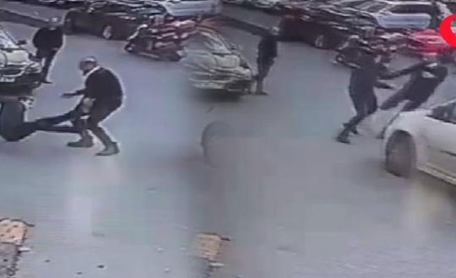 Şişli'de tekme tokat kavga