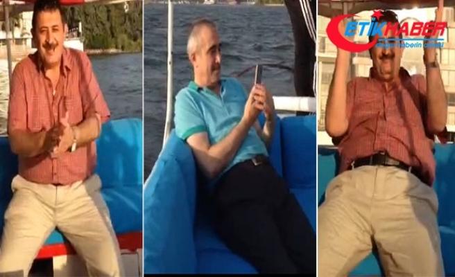 Tekne eğlencesindeki görüntüleri ortaya çıktı