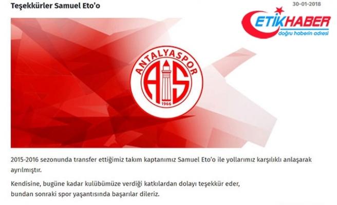 Antalyaspor'dan Eto'o'ya teşekkür mesajı