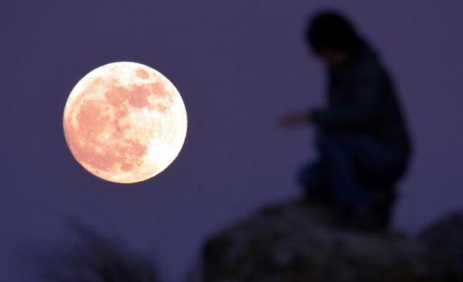 Bodrum'da süper ay güzelliği