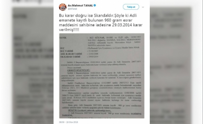 CHP'li Tanal'ın Twitter paylaşımına savcılıktan yalanlama