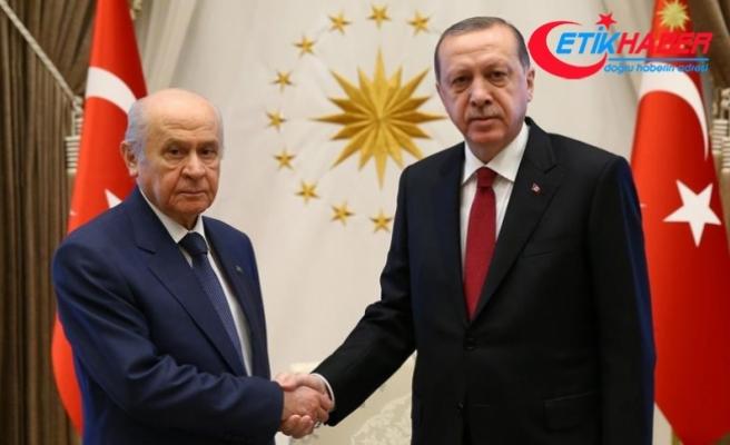 Cumhurbaşkanı Recep Tayyip Erdoğan, MHP Genel BaşkanıDevlet Bahçeli ile yarın görüşecek