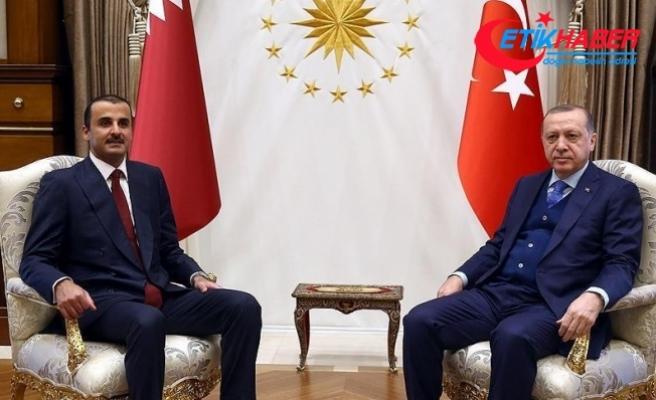 Cumhurbaşkanı Erdoğan, Katar Emiri Al Sani görüştü