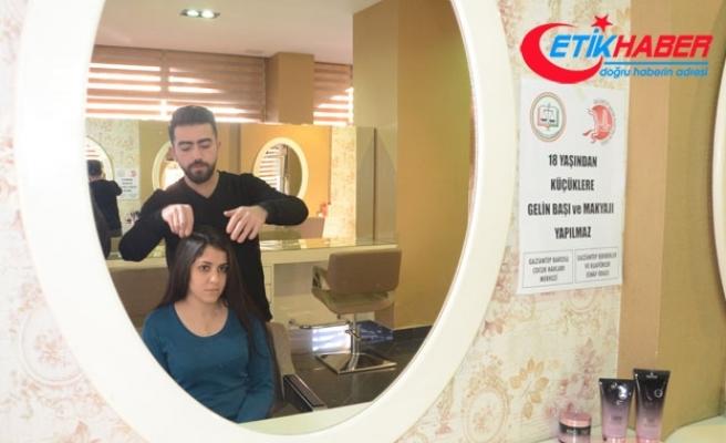 Gaziantep'teki kuaförler çocuk gelinlere saç ve makyaj yapmıyor
