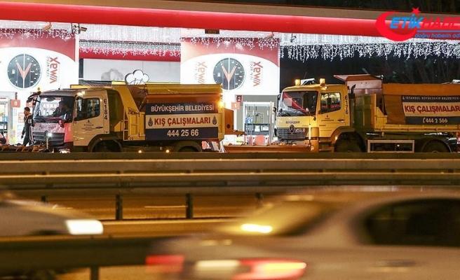 İstanbul'da kar hazırlığı başladı