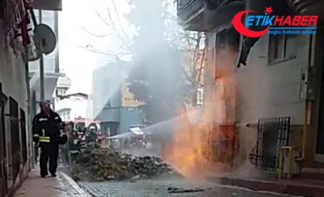 Kanalizasyon çalışmasında doğal gaz borusu delindi