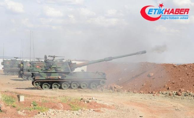 Afrin bölgesindeki terör hedefleri tank ve top atışlarıyla vuruluyor