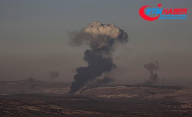 TSK birlikleri, Suriye'nin Afrin bölgesindeki terör hedeflerini havadan ve karadan bombalıyor