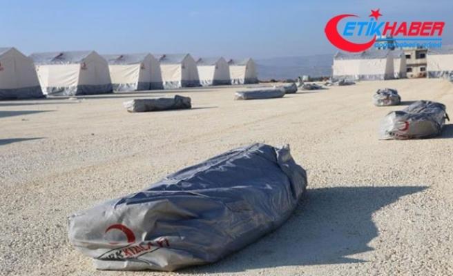 Türk Kızılayı'ndan İdlib'te yeni çadır kent