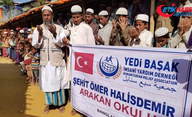 Arakan'da Ömer Halisdemir Okulu açıldı