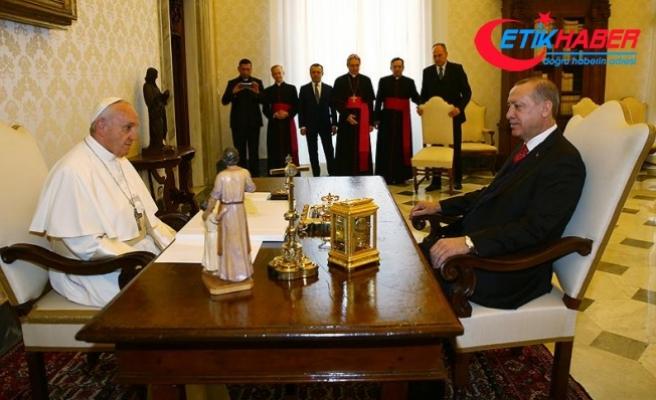 Erdoğan-Papa görüşmesi sona erdi