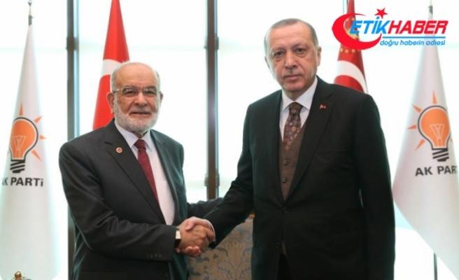 Cumhurbaşkanı Erdoğan, Karamollaoğlu'nu kabul etti