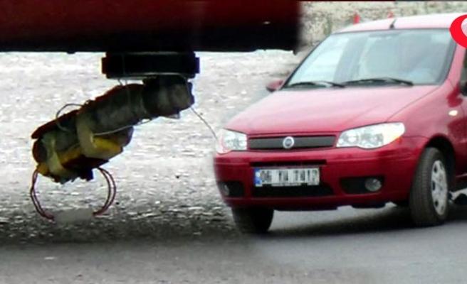 Eşinin aracına bomba düzeneği koydu!