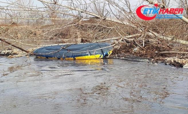 Kaçakları taşıyan bot Meriç Nehri'nde alabora oldu