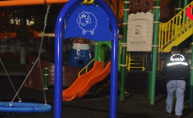 Muhtar çocuk parkında dehşet saçtı