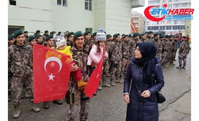Siirt'ten PÖH timi, 'Zeytin Dalı Harekatı' için uğurlandı