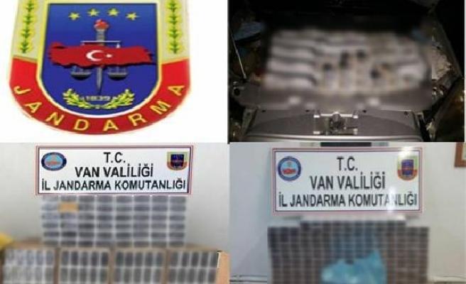 Van'da, 6 bin paket kaçak sigara ele geçirildi
