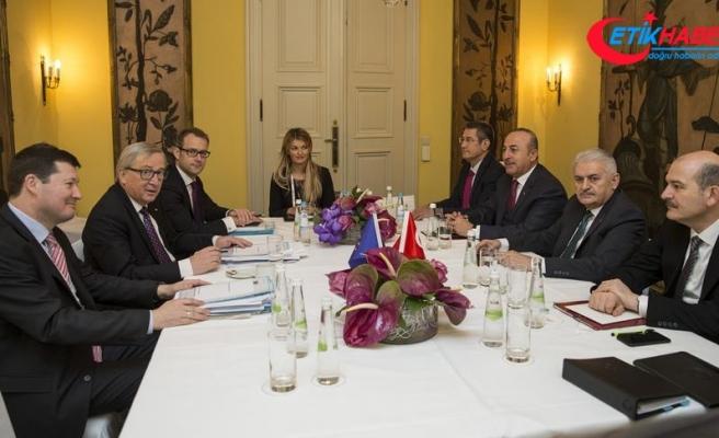 Yıldırım, AB Komisyonu Başkanı Juncker ile görüştü
