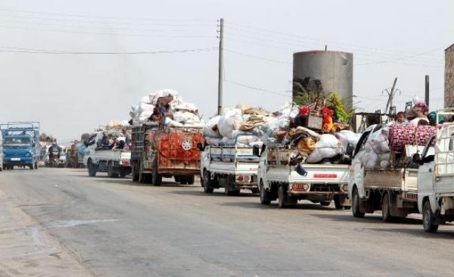 Afrin'e dönüşe el yapımı patlayıcı engeli