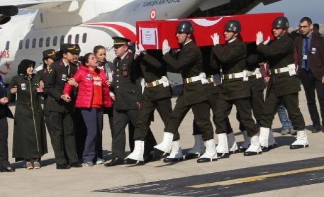 Afrin şehidi Uzman Çavuş Taner Kart'ın cenazesi Ordu'ya getirildi