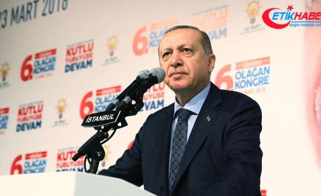 Cumhurbaşkanı Erdoğan: Türk milletinin iradesini esir alabilecek hiçbir dünyevi güç yoktur