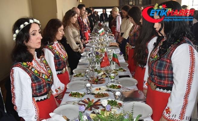 Edirne'de Bulgaristan Milli Günü etkinliğinde Afrin şehitleri için saygı duruşu
