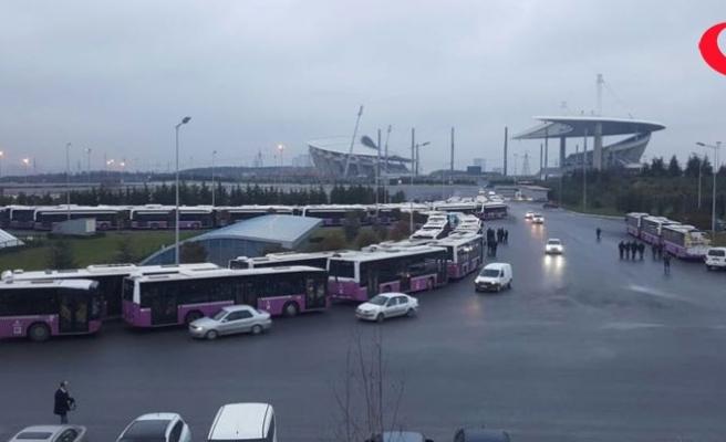 Halk otobüsleri kontak kapattı