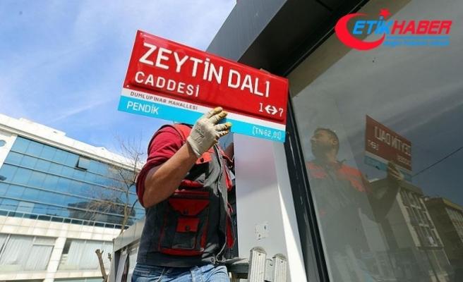 İstanbul'da 'Zeytin Dalı Caddesi' tabelası asıldı