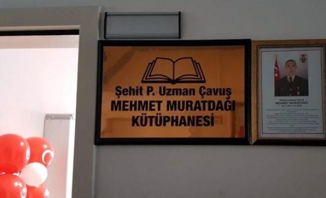 Kayseri'de Afrin şehidi Muratdağı adına yaptırılan kütüphane açıldı