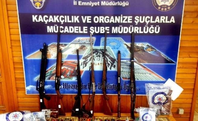 Malatya'da kaçak silah operasyonu: 18 gözaltı