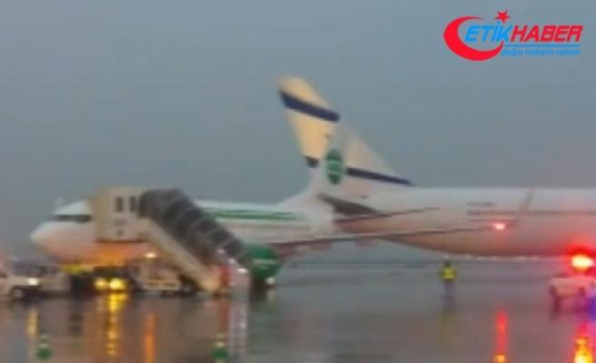 Tel Aviv'de havaalanında iki uçak pistte çarpıştı
