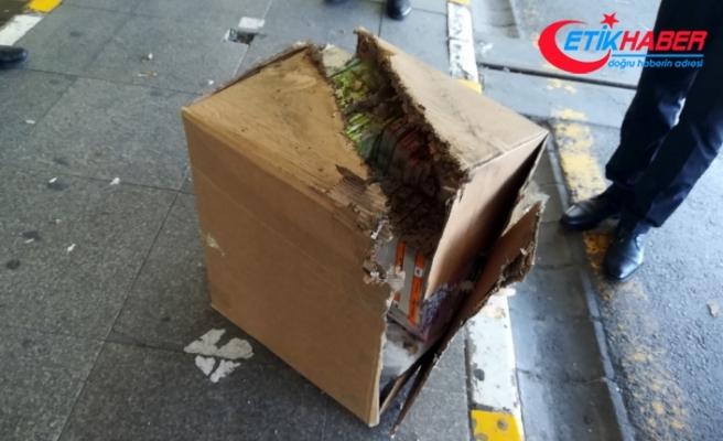 Havalimanında şüpheli paket fünyeyle patlatıldı