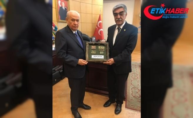 Mehmetçik'ten MHP Lideri Bahçeli'ye 'Zeytin Dalı' hediyesi