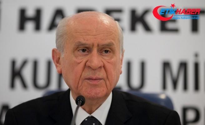 MHP Lideri Bahçeli: Ne Sayın Cumhurbaşkanı ne de bakanlarımız yalnız değildir