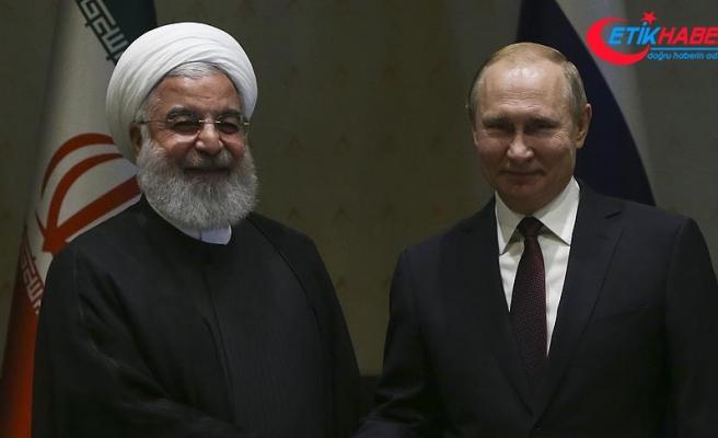 Putin ile Ruhani Suriye'yi görüştü