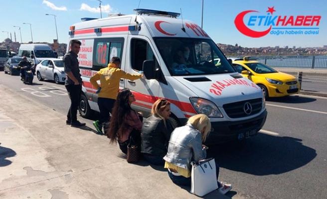 Unkapanı Köprüsü'ndeki kazada 3 kadın turist yaralandı