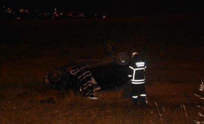 Çorlu'da otomobil şarampole yuvarlandı: 1 ölü, 1 yaralı