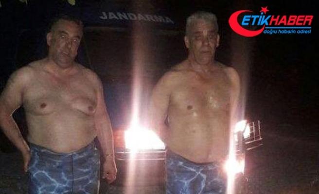 Dalgıç kıyafetli Cezayirliler, Yunanistan'a geçmek isterken yakalandı