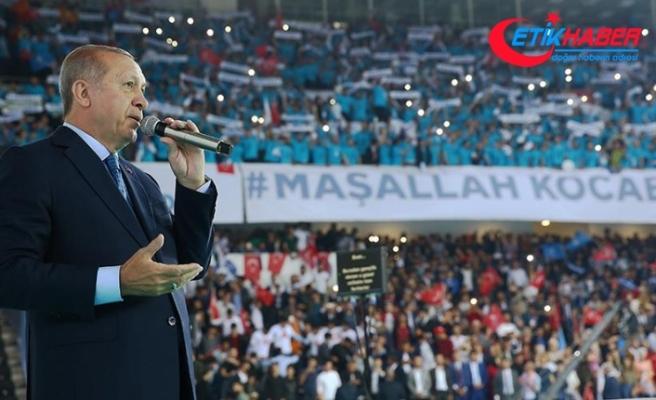Erdoğan: Milletin huzuruna kastedenlere buraları zindan ederiz