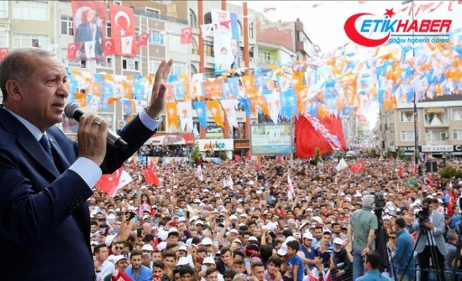 Erdoğan: Türkiye'yi şaha kaldıracağımızın ahdini milletimize verdik