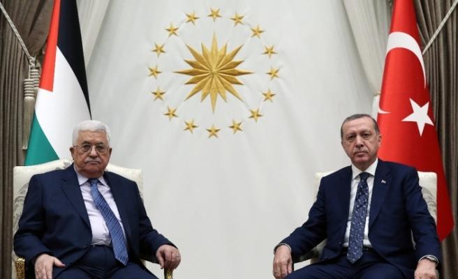 Erdoğan, Filistin Devlet Başkanı Abbas'la görüştü