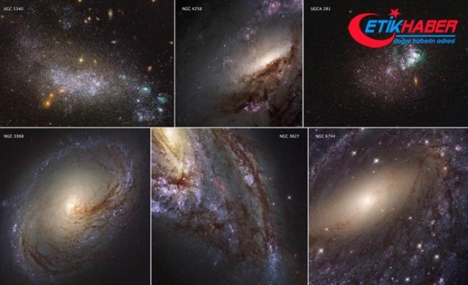 Hubble'in çektiği en yakın galaksilerin görüntüleri yayımlandı