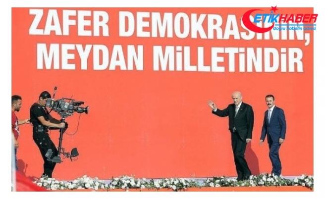 MHP Lideri Bahçeli, Yenikapı'da 'Zulme Lanet, Kudüs'e Destek' mitingine katılcağını açıkladı