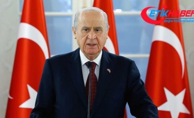 MHP Lideri Bahçeli: MHP'yi Kürt düşmanı göstermek tek kelimeyle şerefsizliktir