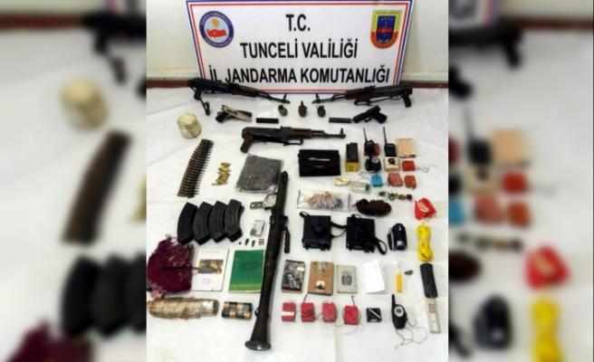Tunceli'de 8 PKK'lının öldürüldüğü bölgede silah ve mühimmatlar bulundu