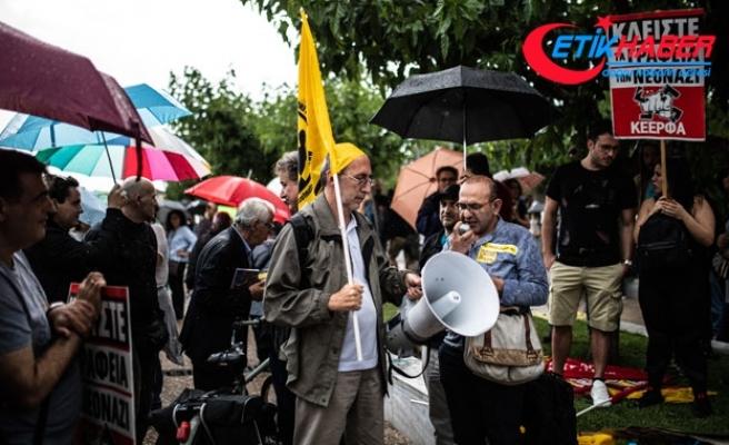Yunanistan'da saldırıya uğrayan Türk dostu Başkan Butaris'e destek eylemi
